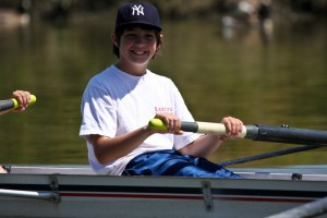 """A young rower is born, at PSCC""""s Small Craft Summer Camp"""