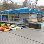 PSCC Austin Rowing Dock awnings and kayaks March 2014