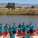 Summer campers 2014 with outrigger canoe
