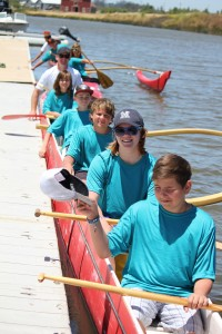 2014 Small Craft Summer Campers go Outrigger Canoeing